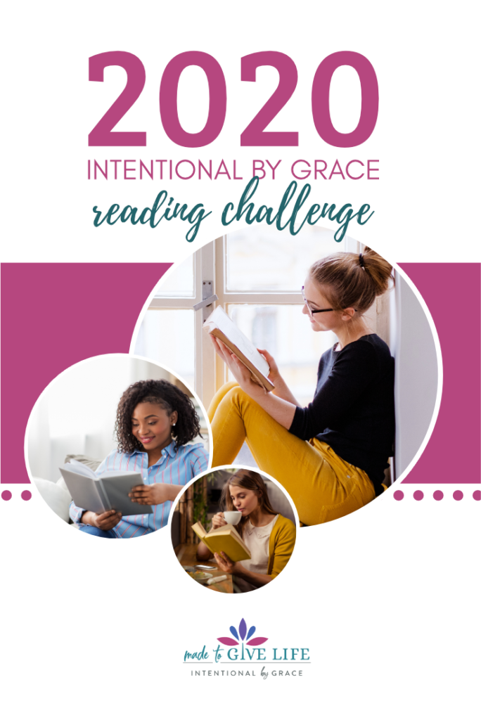 We love our community of women who love to READ. Join us for the 2020 Intentional By Grace Reading Challenge and find like-minded women to inspire you and spur you on! | IntentionalByGrace.com