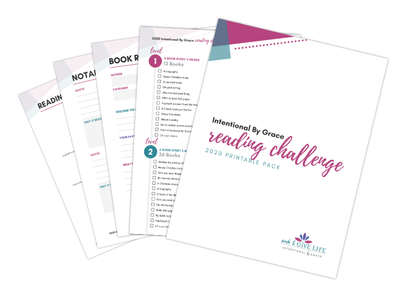 Reading Challenge Printable Packet