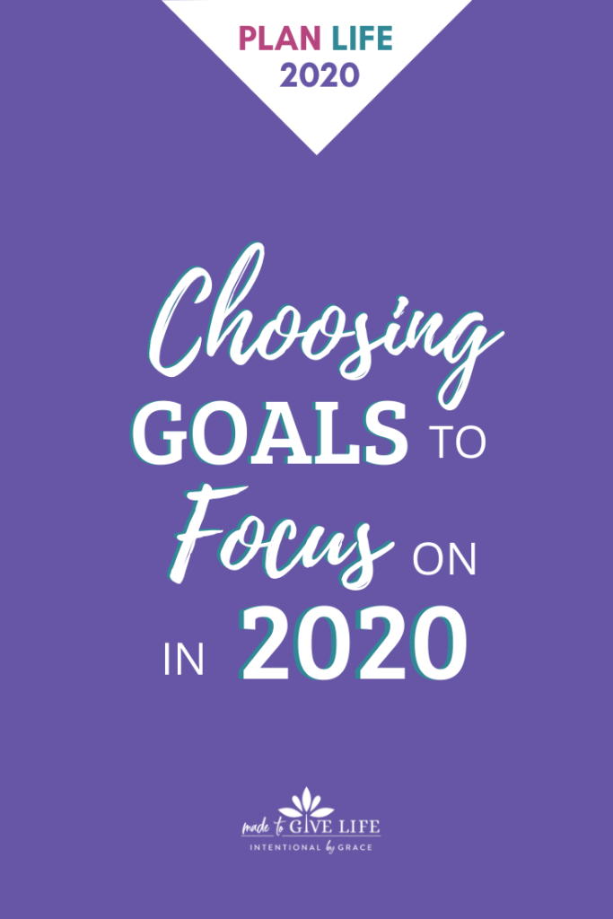 Choosing goals to focus on in 2020. How to set goals as a Christian woman and grow deep roots in 2020.
