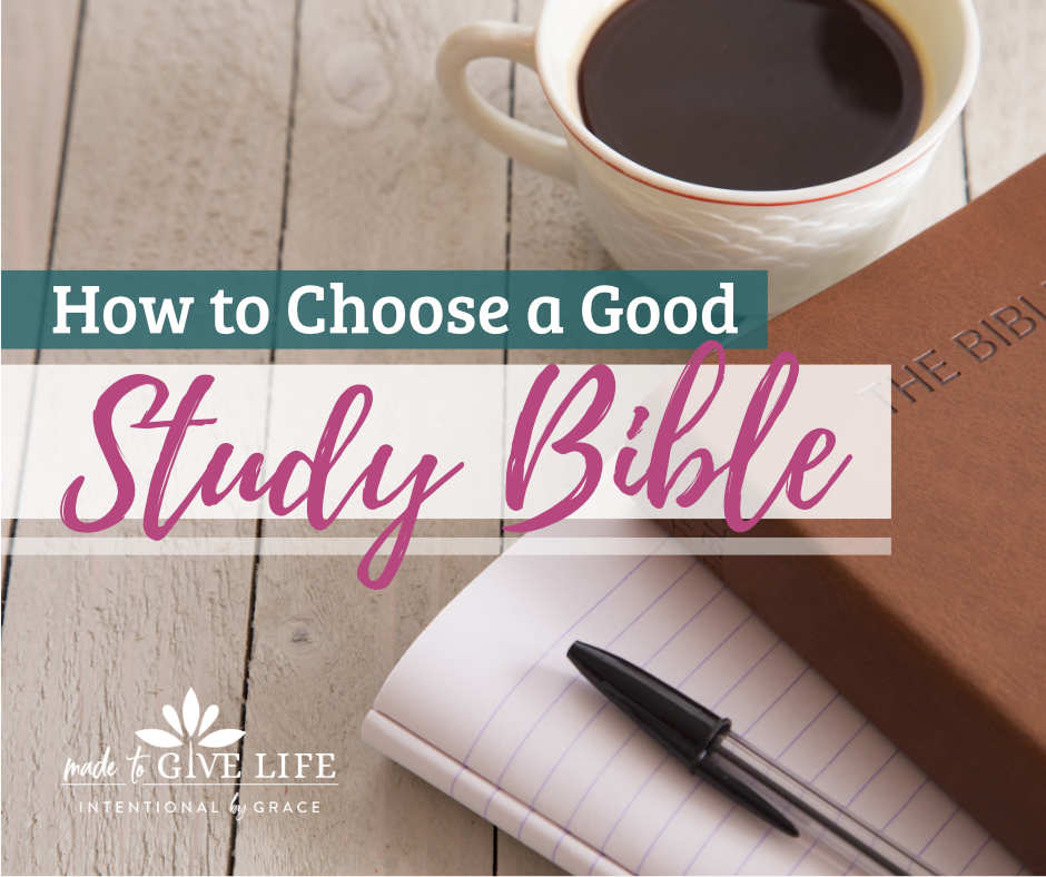 What is a the best Study Bible and How to use a Study Bible to choose the best Bible you can study with. | IntentionalByGrace.com