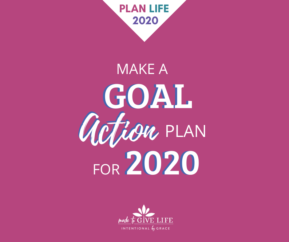 How to make a goal action plan for 2020.