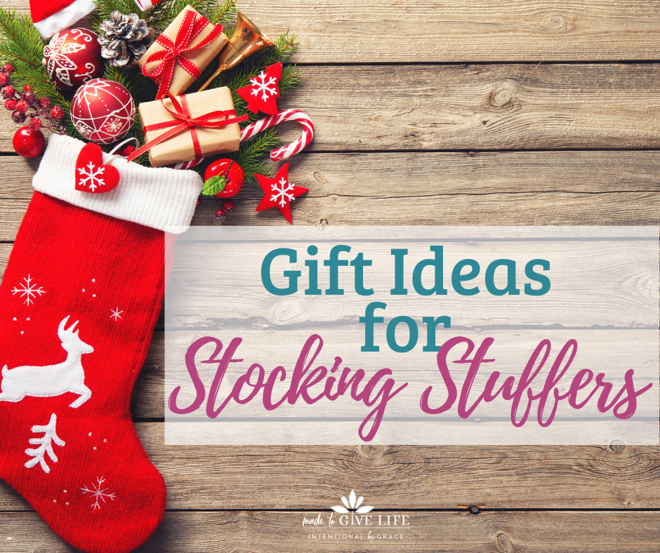 We've got a list of some great gift ideas for stocking stuffers- meaningful, life-giving, and intentional stocking stuffers! | IntentionalByGrace.com