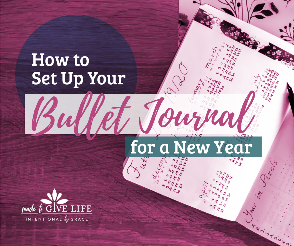 My Bullet Journal is set up, and in this post I walk you through my yearly spread and share some tips and tricks I've learned along the way. | IntentionalByGrace.com