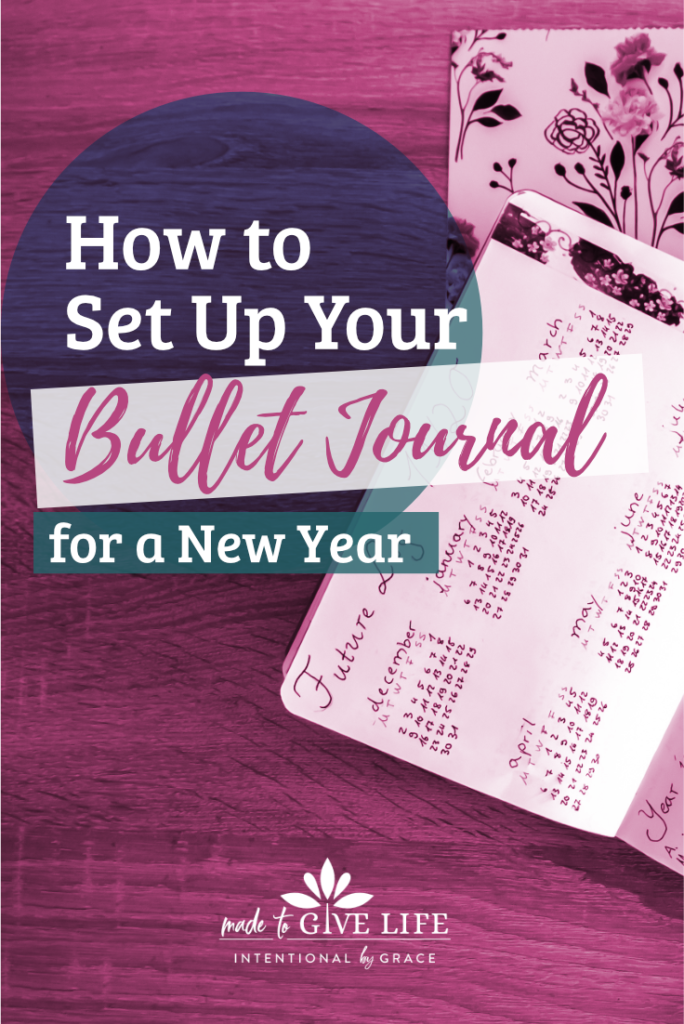 My Bullet Journal is set up and in this post I walk you through my yearly spread and share some tips and tricks I've learned along the way. | IntentionalByGrace.com