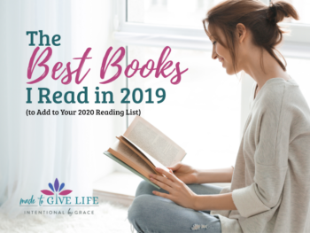 I read a lot this year. These are the best books I read in 2019 to add to your 2020 reading list-- plus a Reading Challenge for Christian Women! | Intentional By Grace.com