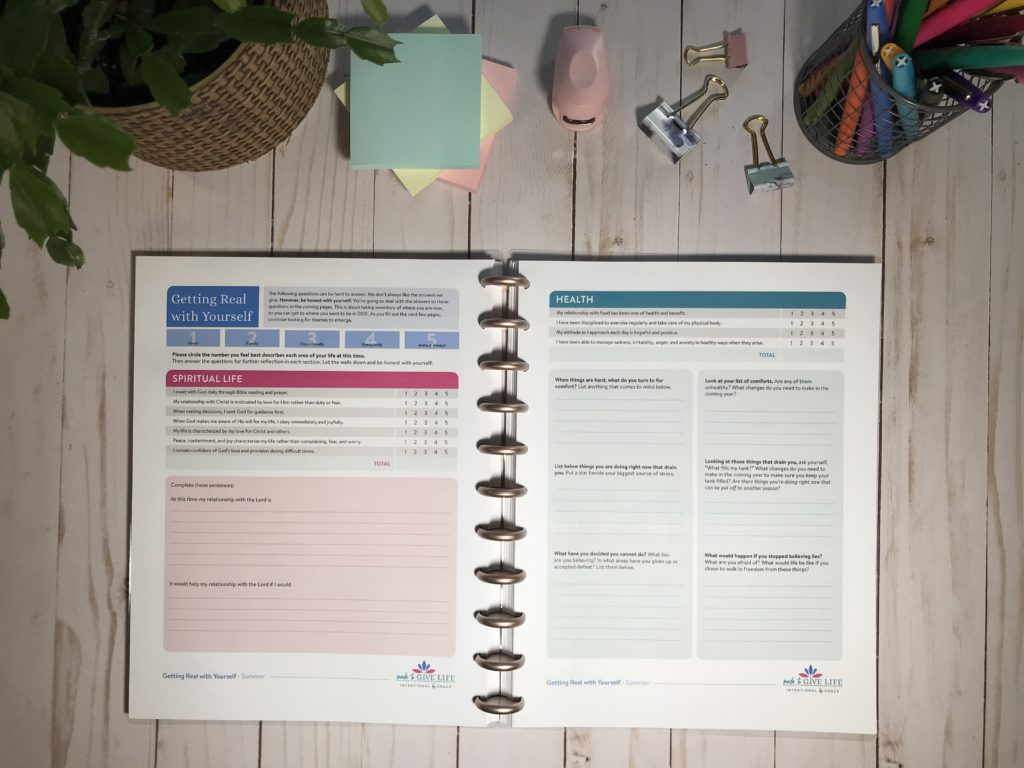 Made to Give Life Planner - goal planner for Christian women