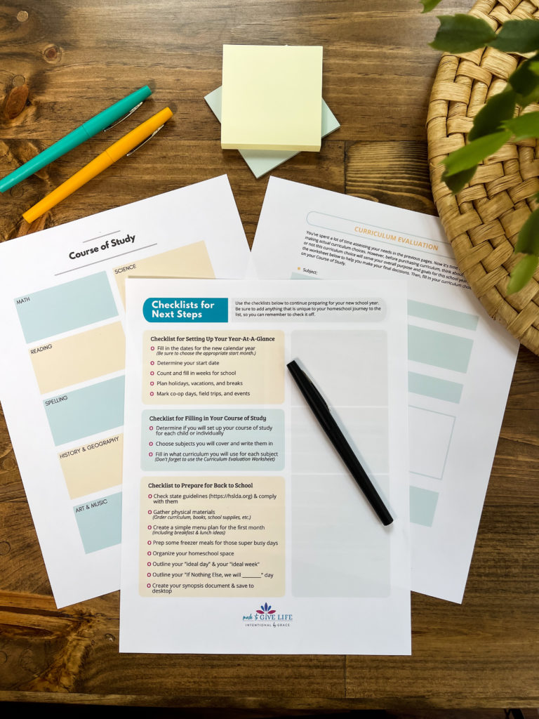 Your Intentional Family Homeschool Planning Guide- plan your homeschool year with confidence!