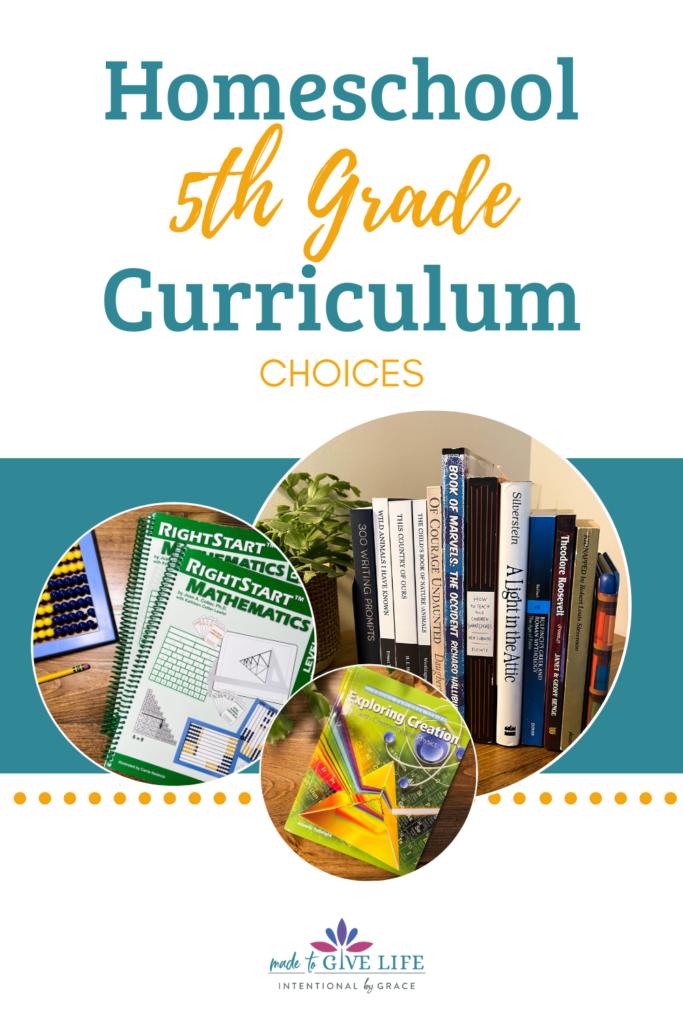 5th Grade Homeschool Curriculum Choices