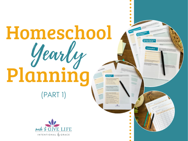 How to do homeschool yearly planning!