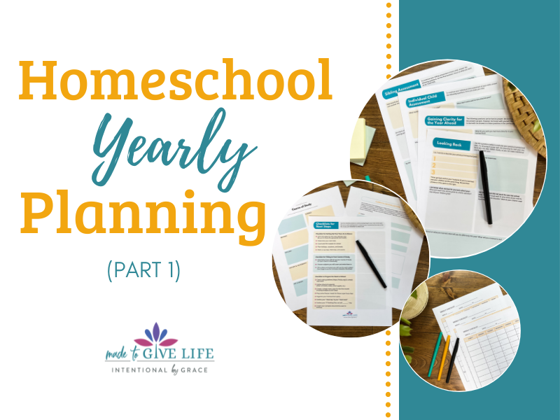 How I do yearly homeschool planning!