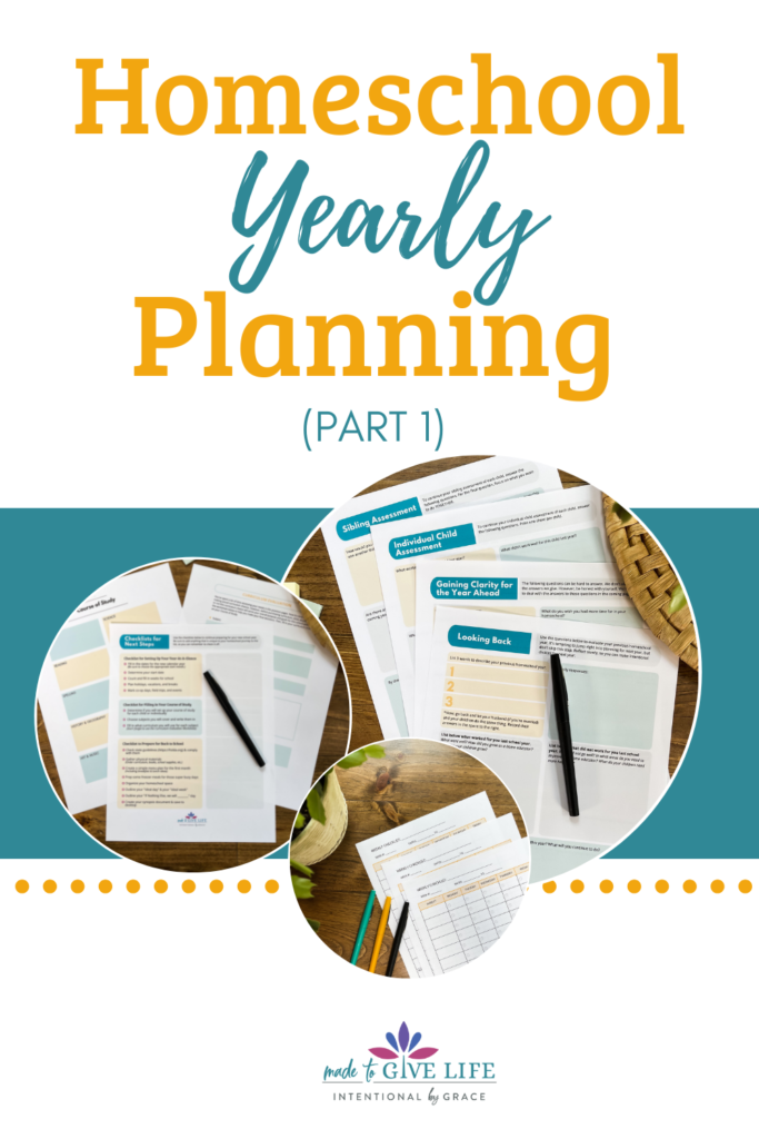 How I do homeschool yearly planning!