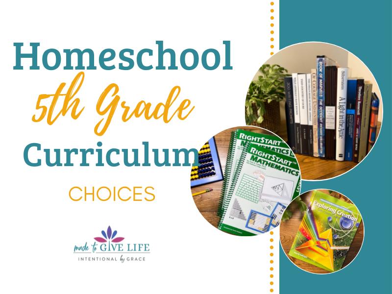 Homeschool 5th Grade Curriculum Choices