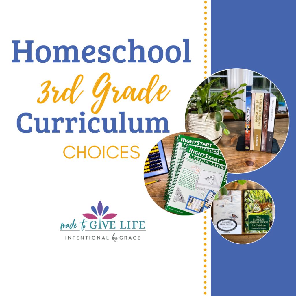homeschool third grade curriculum choices
