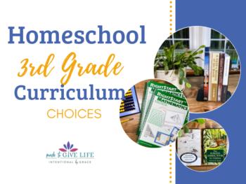 3rd grade homeschool curriculum choices