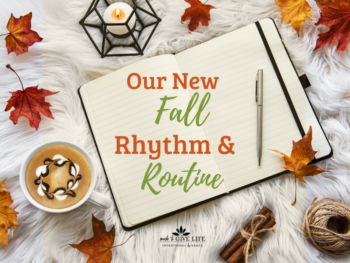 fall rhythm and routine